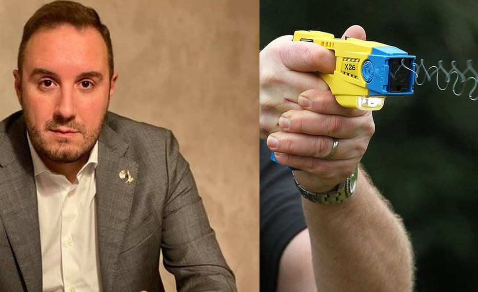 Alex Bazzaro e taser